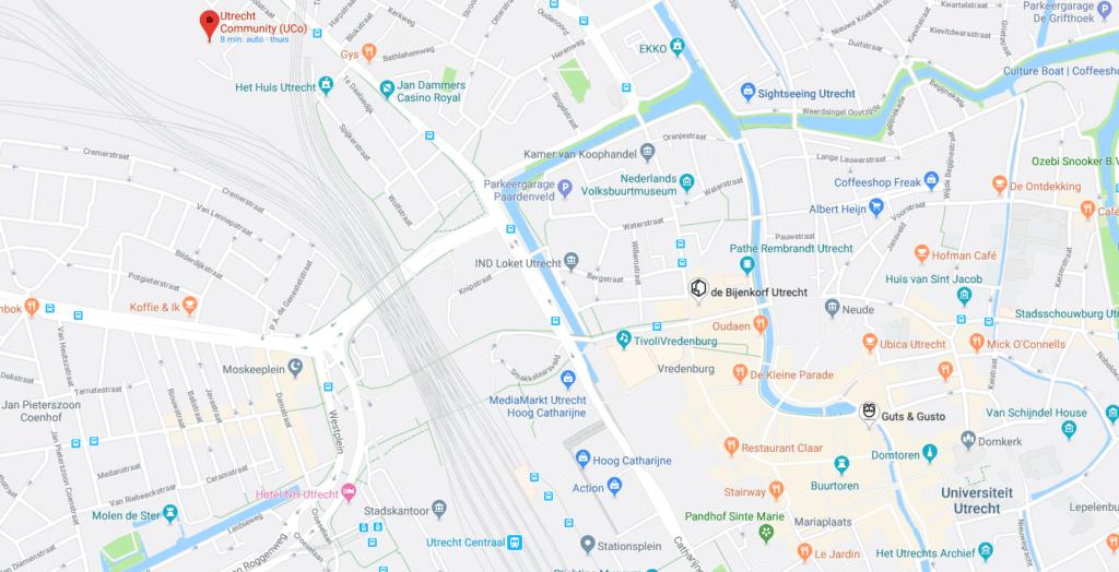 Kaart Utrecht centrum